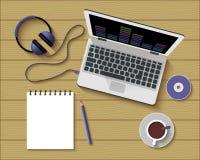 平的办公室工作场所样式现代设计  库存图片