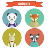 平的动物 库存图片