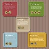 平的后勤infographic模板 库存图片