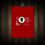 平的圣诞快乐传染媒介设计和愉快 免版税库存照片