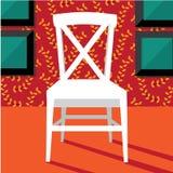平的在别致的设置的设计现代椅子 库存图片