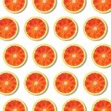 平的在白色背景的位置红色橙色果子切片样式 免版税库存图片