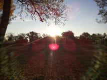 平的地形壮观的风景  原野的秀丽 不尽的草甸 在新鲜空气的步行 清洗在蓝色的自然 库存照片