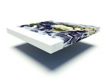 平的地球模型 免版税图库摄影