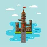 平的城堡艺术 免版税库存图片