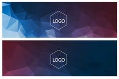 水平的多角形横幅 免版税库存图片