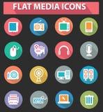 平的媒介象,五颜六色的版本 免版税库存图片