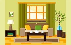 平的客厅 免版税库存照片