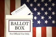 水平的投票箱 库存图片