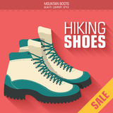 平的摩托靴鞋子背景概念 免版税库存图片