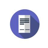 平的文件象 与企业文件的文件夹 免版税图库摄影