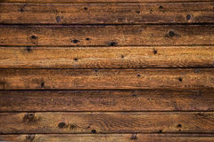 水平的木墙壁 库存照片