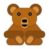 平的样式动画片熊 库存例证