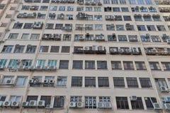 平的样式的hk一家工业工厂 免版税库存照片