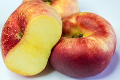 平的桃子 免版税库存图片