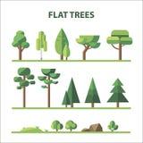 平的森林 免版税库存图片