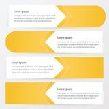 水平的横幅传染媒介设计黄色颜色 库存例证
