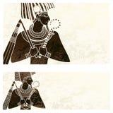 水平的横幅, osiris古埃及飞行物 皇族释放例证