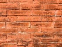 水平的橙色砖墙 库存图片