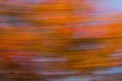水平的橙色迷离 免版税库存图片