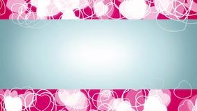水平的流程白色心脏微粒动画 库存例证
