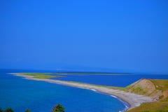平的海湾岸 库存图片