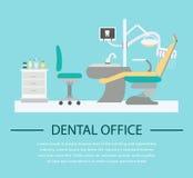 平的牙医办公室例证 库存图片