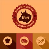 平的牛肉设计元素 免版税库存照片
