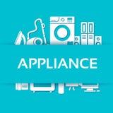平的现代厨房器具设置了象概念 免版税库存图片