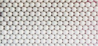 水平的生动的白色球医疗球形 免版税图库摄影