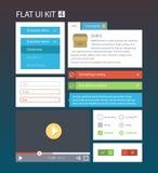 平的用户界面成套工具4 免版税库存照片