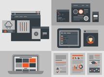 平的用户界面设计元素 免版税库存照片