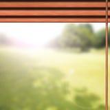 水平的百叶窗,窗口 免版税库存照片