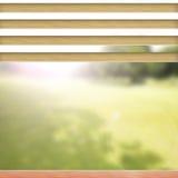 水平的百叶窗,窗口 免版税图库摄影
