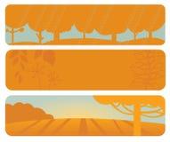 水平的秋天横幅 库存图片