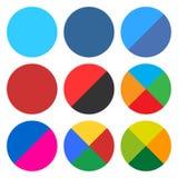 平的空白的圆的象集合网按钮 免版税库存图片