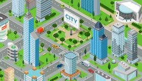 平的等量城市道路模型传染媒介 向量例证