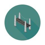 平的等量缆绳停留了桥梁 免版税库存图片