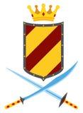 平的纹章学优质质量象征设置了与皇家传统标志 库存图片