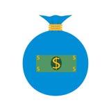 平的网象 背景袋子图象grunge图象货币向量 免版税库存图片