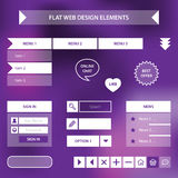 平的网络设计元素 免版税库存图片