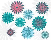 平的艺术雏菊 构思设计餐馆模板 也corel凹道例证向量 库存照片