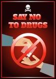 平的药物海报 库存例证