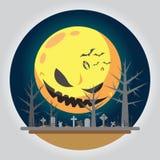 平的设计万圣夜坟园例证 库存例证