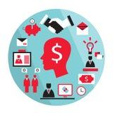 平的设计企业元素 免版税库存照片
