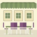 平的设计内部餐厅 免版税库存照片