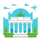 平的设计勃兰登堡门 免版税库存照片
