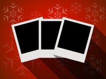 平的设计圣诞快乐卡片 库存照片