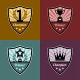 平的设计奖标志Illustraion  免版税库存图片