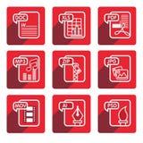 平的设计文件类型象 图库摄影